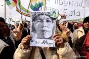 The photographic series calls for the immediate release of Milagro Sala.
