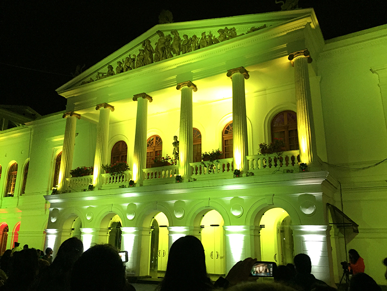 One of the oldest opera houses in South America, the theater was built between 1879 and 1886.