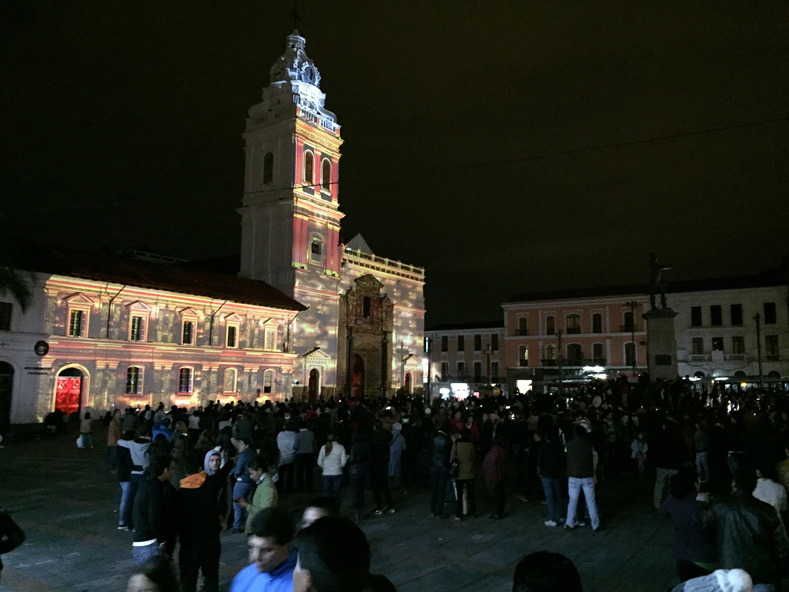 One of the most impressive shows took place at the Church of Santo Domingo.