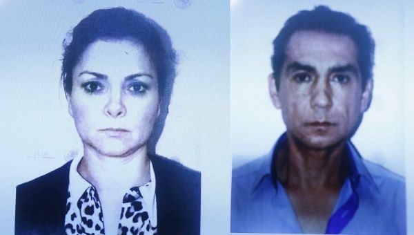 Maria de los Angeles Pineda and Jose Luis Abarca are seen in their mugshots.