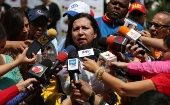 Venezuelan Interior Minister Carmen Melendez gives a press conference on November 7, 2014 confirming the arrest of  Leiva Padilla Mendoza. (Photo: Ministry of the Interior)
