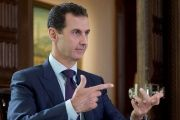 Syria's President Bashar al-Assad speaks during an interview with Denmark's TV 2, in this handout picture provided by SANA on October 6, 2016.