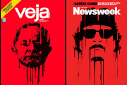 Veja's Sept. 21, 2016 cover and Newsweek's Oct. 30, 2011 cover