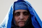Sharbat Gula, the green-eyed Afghan woman, arrived in Kabul, Afghanistan, Nov. 9, 2016.