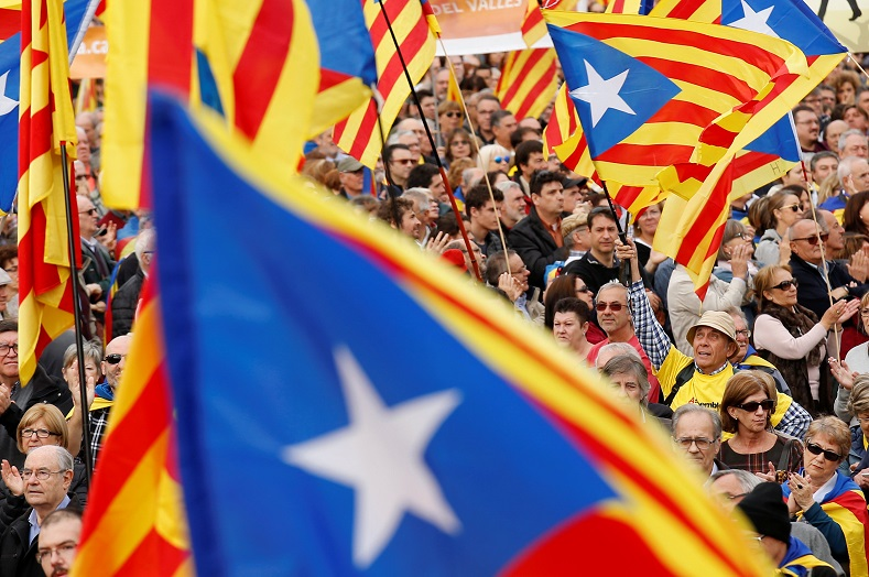 Pro-independence leaders say the region pays too much taxes to Madrid.