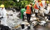 Oil spill in Marañon River