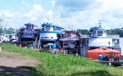 Vessels unable to move through Marañon River
