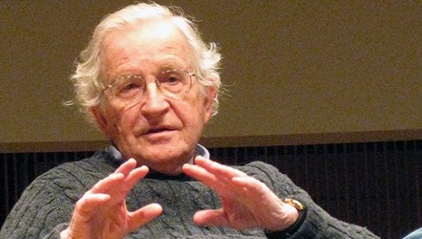 MIT linguistic professor and iconoclastic intellectual and political activist Noam Chomsky