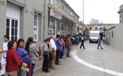 Due to lack of personnel, long lines are usual at public hospitals