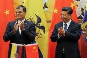 President Rafael Correa and President Xi Jinping during a state visit to China in 2015.