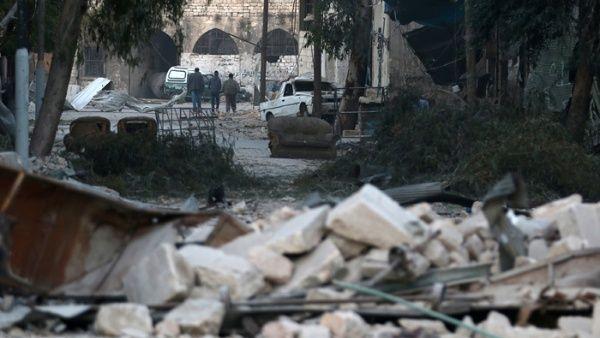 Alepo, una ciudad destruida por la guerra.
