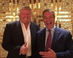Donald and Trump and Nigel Farage at Trump Tower New York