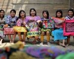 Indigenous women from the Guna community presenting the typical cloth