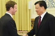 Mark Zuckerberg meets China's Liu Yunshan in Beijing.