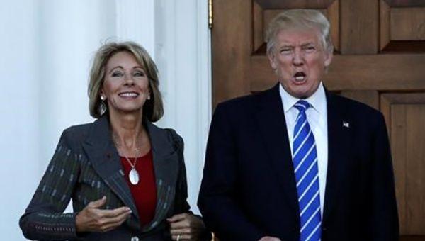 post donald trump picks republican activist education secretary