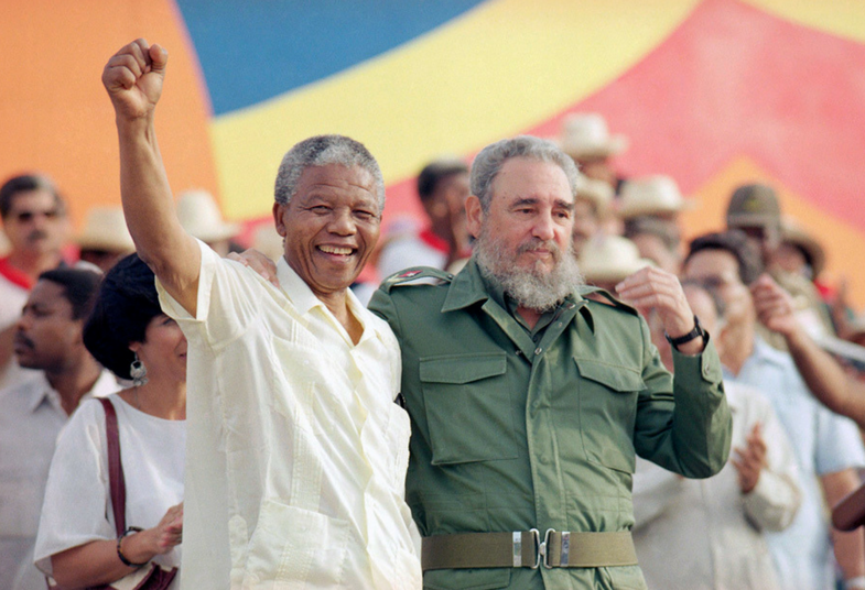 South African freedom fighter and former President Nelson Mandela visited Fidel in Cuba in 1991. Cuba