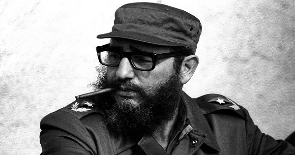 Fidel Castro during the 19th anniversary of his and his fellow revolutionaries arrival on the yacht Granma to overthrow the U.S.-backed Batista dictatorship, in Havana, in this November 1976 file photo.