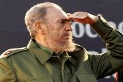Cuban revolutionary leader Fidel Castro looks on at a rally in Argentina, in 2006.