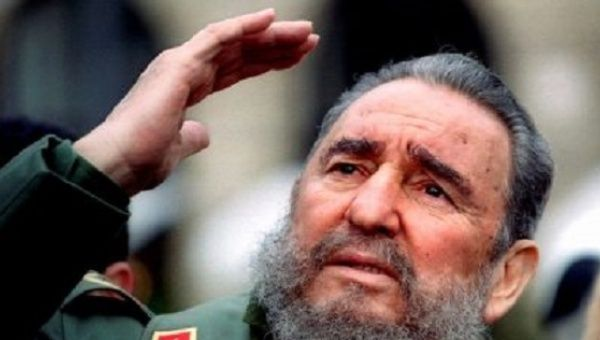 Fidel Castro speaking at a rally. The Cuban revolutionary leader died at the age of 90.