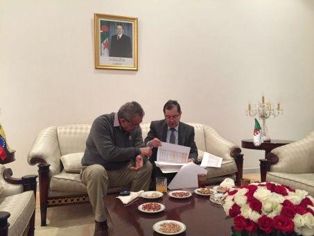 Eulogio del Pino se reunió con Noureddine Boutarfa para definir acciones conjuntas en defensa del precio del petróleo.