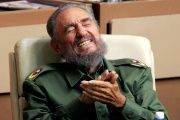 Fidel Castro laughs in Cuban parliament in Havana, Dec. 23, 2005.