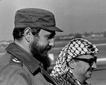 Fidel Castro and Yasser Arafat in 1974.