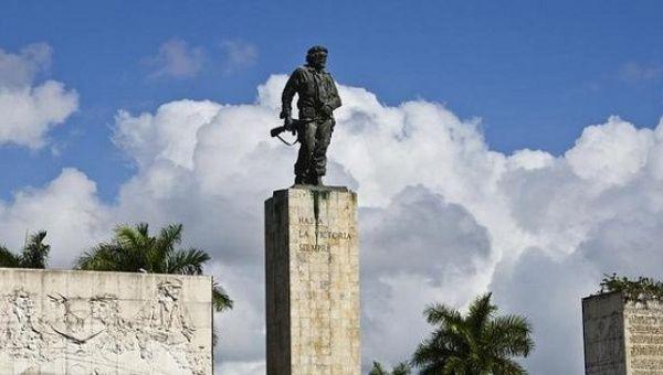 "A statue of revolutionary hero Ernesto ""Che"" Guevara in Santa Clara"