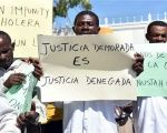 'Justice Delayed Is Justice Denied' Haitian activists and cholera victims protest the UN Stabilization Mission in the capital, Port-au-Prince