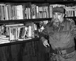 Fidel Castro in his study.