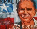 Mural of Puerto Rican independence leader Oscar López Rivera.