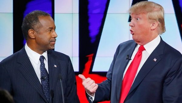 Dr. Ben Carson and U.S. president-elect Donald Trump