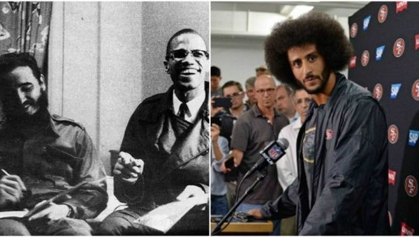 49ers Quarterback Colin Kaepernick caused a stir earlier this year by sporting a t-shirt featuring the historic meeting between Fidel Castro and Malcolm X.