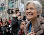 Green Party presidential nominee Jill Stein holds a news conference outside Trump Tower in Manhattan, New York City.