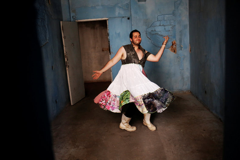Fernando, 24, dances in the building. While Brazil has a reputation for tolerance, some Evangelical pastors, who are becoming increasingly popular in Brazil, have adopted overtly homophobic rhetoric.
