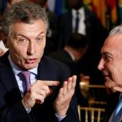 Mauricio Macri with Michel Temer during the 71st session of the U.N. General Assembly in New York, Sept. 2016.