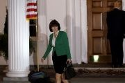 U.S. Representative Cathy McMorris Rodgers departs after her meeting with U.S. President-elect Donald Trump at Trump National Golf Club in Bedminster.