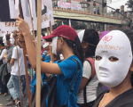 Protestors gather in central Manila, Phillipines, for International Human Rights Day.