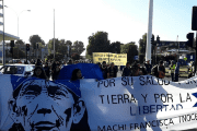 Protesters demand the release of Machi Francisca Linconao in Temuco, Chile, Dec. 12, 2016.