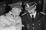 Augusto Pinochet of Chile (L) and Jorge Rafael Videla (R) of Argentina were two of the region's most notorious U.S.-backed dictators