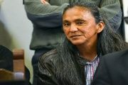 Indigenous activist Milagro Sala attends a court hearing in Jujuy, Dec. 15, 2016.