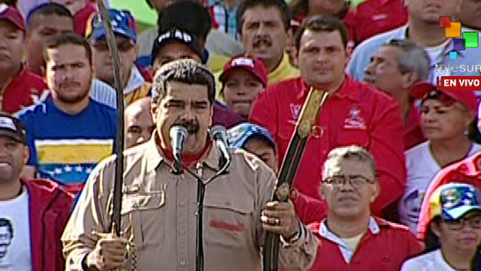 Maduro denuncia sabotaje extranjero al traslado de nuevos billetes