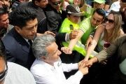 Lenin Moreno, candidate for the left-wing coalition Alianza Pais