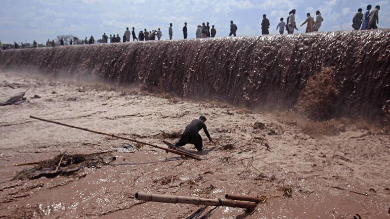 Inundações no Paquistão. em abril deste ano.