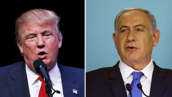 U.S. President-elect Donald Trump (L) and Israeli Prime Minister Benjamin Netanyahu (R)