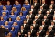 The Mormon Tabernacle Choir sings during the biannual general conference of The Church of Jesus Christ of Latter-day Saints in Salt Lake City, Utah Oct. 3, 2015.