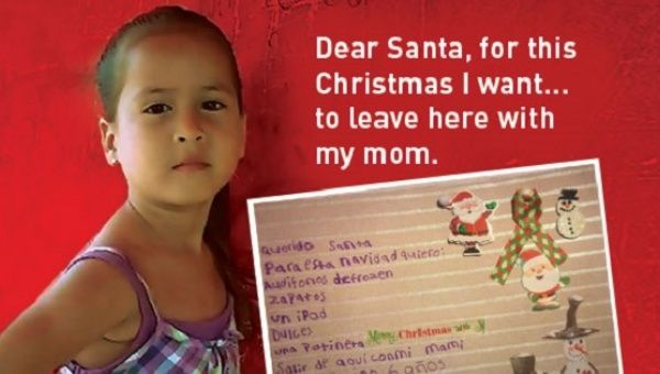 """A child detainee and her letter asking Santa for """"freedom"""""""