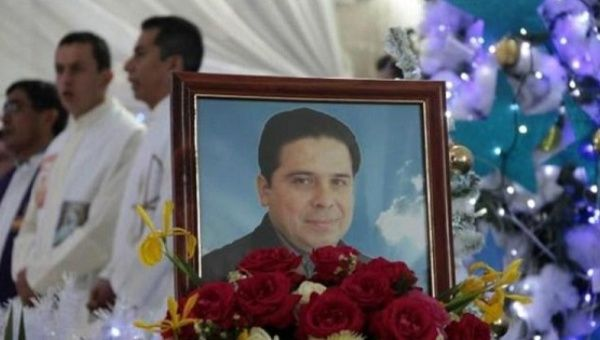 A photo of Reverend Gregorio Lopez Gorostieta, who was killed in 2014