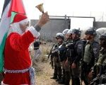 Palestinian Santas Protest Israeli Occupation