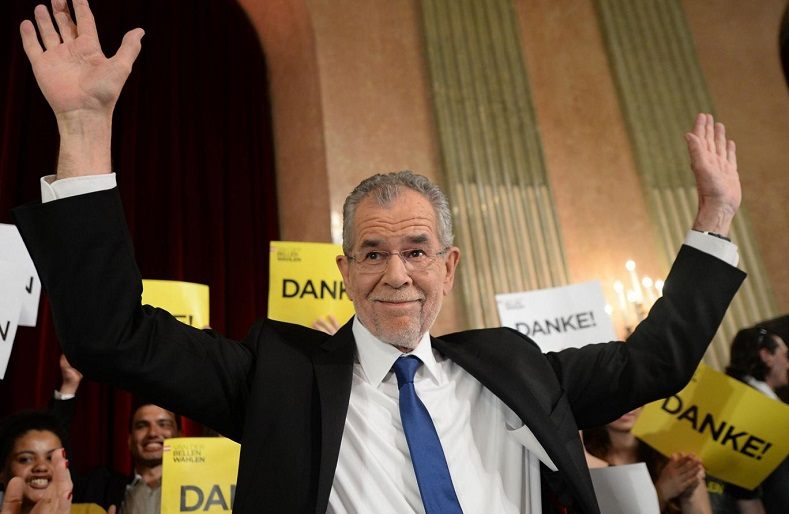 In Austria, Alexander Van der Bellen, a member of the Green Party who ran as an independent, won the presidential election, breaking the far right tendency in Europe.