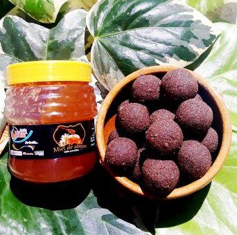 Bombones de cañahua con miel boliviana